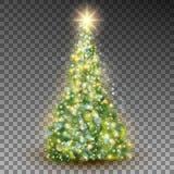 Зеленая абстрактная рождественская елка Вектор EPS 10 Стоковая Фотография RF