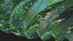 Зеленая абстракция на черной предпосылке Стоковые Изображения RF