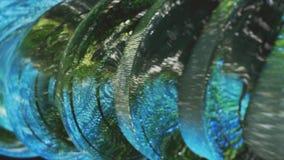 Зеленая абстракция на черной предпосылке Стоковая Фотография RF