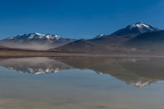 Зеленая лагуна, verde Laguna, Боливия Стоковое фото RF