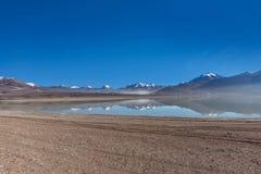 Зеленая лагуна, verde Laguna, Боливия Стоковые Изображения