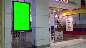 Зеленая афиша для вашего объявления на магазине мобильного телефона видеоматериал