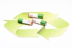 Зеленая батарея рециркулировать энергии Стоковое Изображение