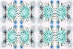 Зеленая белая и голубая цифров увеличенная и манипулированная фантазия Стоковое Изображение RF
