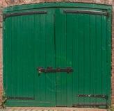 Зеленая блокировка двери Стоковое Изображение RF