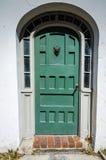 Зеленая дверь - Августин Блаженный, FL Стоковое Изображение RF