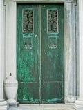 Зеленая дверь к усыпальнице Стоковое фото RF
