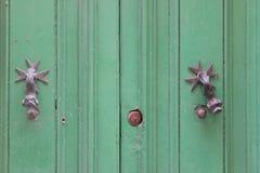 Зеленая дверь Стоковая Фотография RF
