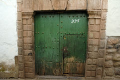 Зеленая дверь Стоковое Изображение RF