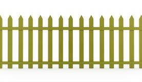 Зеленая винтажная загородка представленная на белизне Стоковые Фотографии RF