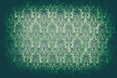 Зеленая винтажная картина на старой стене в старом типе тонизировать камеры Стоковое Фото
