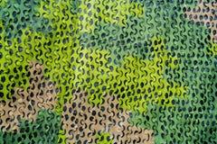 Зеленая воинская маскировочная сетка с различными тенями Стоковое Изображение