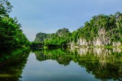 Зеленая вода горы Стоковые Фотографии RF