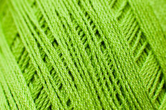 Зеленая вязать текстура потока, фон дела рук Стоковые Фотографии RF