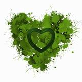зеленая влюбленность иллюстрация вектора