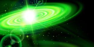Зеленая галактика бесплатная иллюстрация