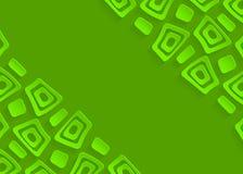 Зеленая геометрическая бумажная абстрактная предпосылка Стоковая Фотография RF