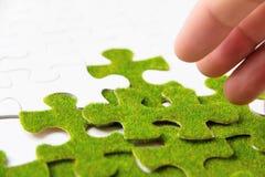 зеленая головоломка части Стоковые Изображения RF