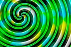Зеленая голубая желтая черная спираль Стоковые Фото
