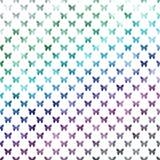 Зеленая голубая фиолетовая предпосылка фольги Faux точки польки бабочек металлическая Стоковое Изображение RF
