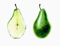 зеленая груша Стоковая Фотография