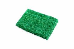 Зеленая губка над белой предпосылкой Стоковые Изображения RF
