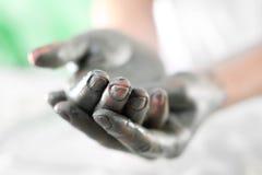 зеленая глина Стоковая Фотография