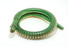 Зеленая деревянная змейка Стоковая Фотография