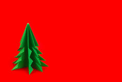 Зеленая ель origami Стоковое фото RF
