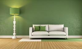 зеленая живущая комната Стоковые Изображения