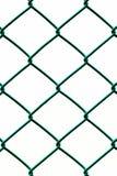 Зеленая загородка изолированная на белой предпосылке, вертикальной картине Стоковое фото RF