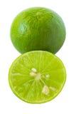 Зеленая известка изолированная на белой предпосылке Стоковые Изображения