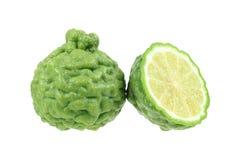 зеленая известка kaffir изолированная на белизне Стоковые Фотографии RF