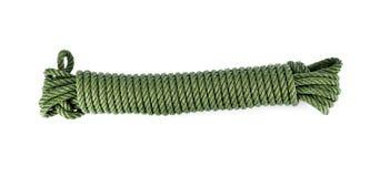 Зеленая изолированная веревочка Стоковая Фотография RF