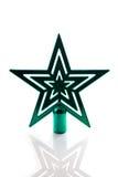 Зеленая изолированная звезда рождественской елки Стоковые Изображения RF