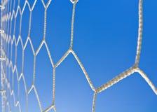 зеленая линия белизна травы цели футбола сети Стоковая Фотография