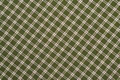 Зеленая и белая шотландка Стоковые Фотографии RF