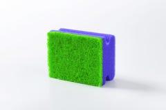 Зеленая и голубая губка кухни Стоковые Изображения RF