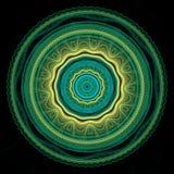 Зеленая и желтая мандала Стоковая Фотография RF