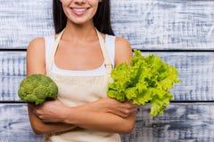Зеленая и здоровая еда Стоковое Изображение