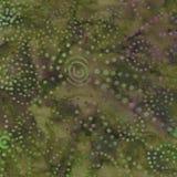Зеленая и фиолетовая картина батика Стоковая Фотография RF