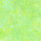 Зеленая картина батика Стоковые Изображения