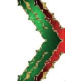 Зеленая картина с красным цветом изолированная на белой предпосылке Элемент для конструкции Шаблон для конструкции скопируйте кос Стоковое Изображение