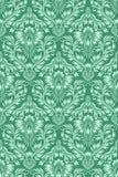 Зеленая картина флористического орнамента безшовная Стоковое фото RF