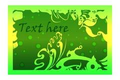 Зеленая карточка Стоковые Изображения RF