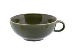 Зеленая керамическая чашка Стоковая Фотография RF