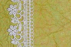 Зеленая книга и шнурок Стоковые Изображения