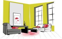 Зеленая комната Стоковые Фотографии RF