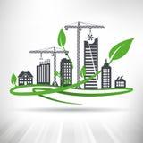 Зеленая концепция городского развития иллюстрация штока