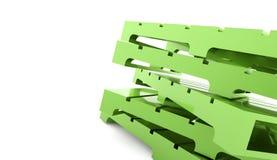 Зеленая концепция палитр на белизне Стоковое фото RF